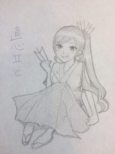 直心Ⅱカーボンちゃん原画